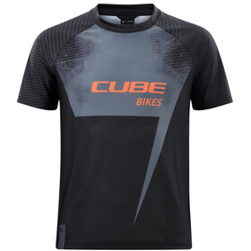 Cube Junior Jersey Korte Mouwen Kinderen, black´n´orange
